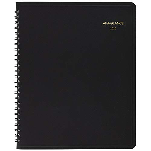 AT-A-GLANCE 2020 Daily PlannerAppointment Book 7 x 8-34 Medium Black 7082405