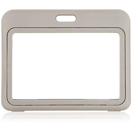 Juvale Hard Plastic Slide Open Horizontal ID Badge Holder Pack of 25
