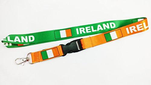 Ireland Flag Reversible OrangeGreen Lanyard With Clip for Keys or Id Badges 1 Lanyard