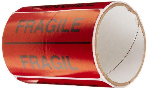 TapeCase Fragile  Fragil Label - 50 per pack 1 Pack