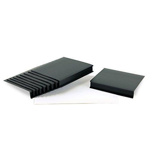 Moveable Plastic Shelf Label Holders Black 1316H x 5W x 5-14D 10 pk