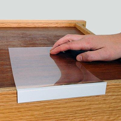 Moveable Shelf Label Holder 34 high x 5 Label HolderMoveable ShelfClear 10 Holders  Pack
