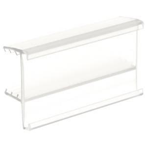 SuperGrip C-Channel Wood Shelf Label Holder