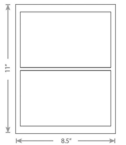 100 Sheets White Laser Inkjet 775x475 Delivery Confirmation Stampscom Labels 2-Up