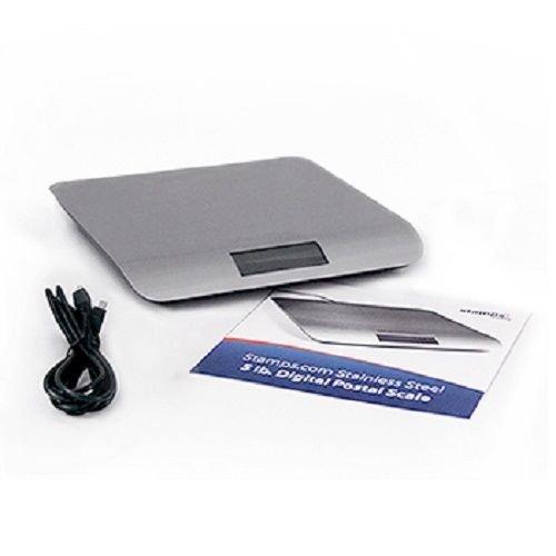 Stampscom Stainless Steel 5 lb Digital Postal Scale