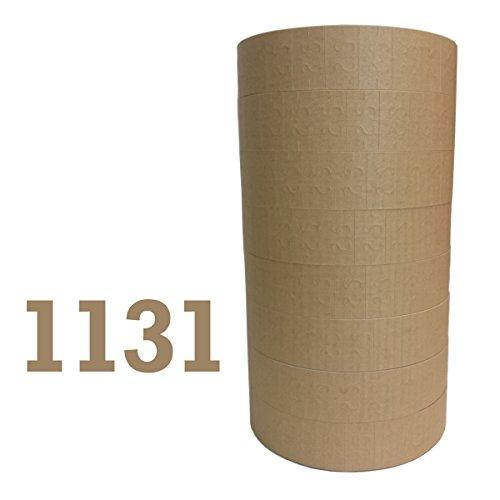 1131 Monarch TAN Label Gun labels 8 rolls 20000 labels