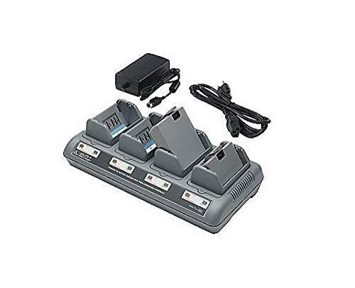 4-Bay Battery Charger Kit for Zebra Barcode Printer Batteries QL420 QL320 QL220 - RW420 RW220 - QLn420 QLn320 QLn220 Renewed