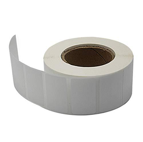 LENVII Thermal Transfer Polypropylene Labels White Barcode Shipping Multipurpose Stickers Matte Finish bright White Tagsfor Zebra Barcode Label Printer315x16x500pcs4rollsboxFor Resin Ribbon