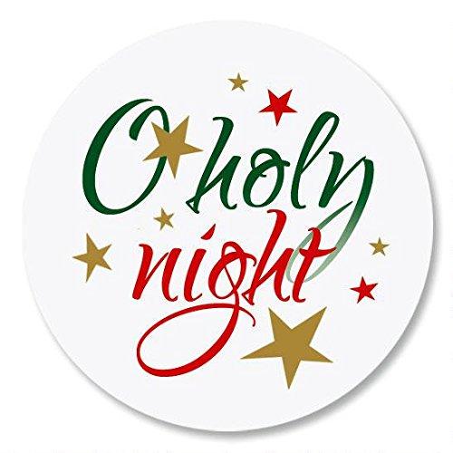 O Holy Night Christmas Envelope Seals -Set of 144