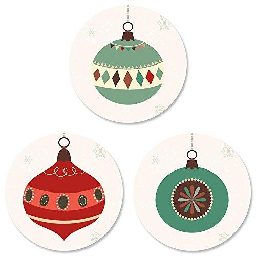 Ornament Trio Christmas Envelope Seals -Set of 144