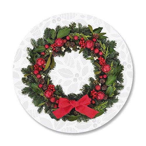 Photo Wreath Christmas Envelope Seals -Set of 144
