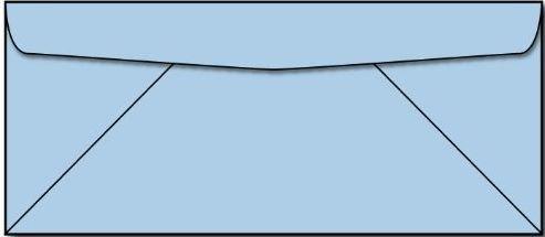 Blue 10 Business Size Envelopes 100 Envelopes-Limited Papers™ Brand Envelopes