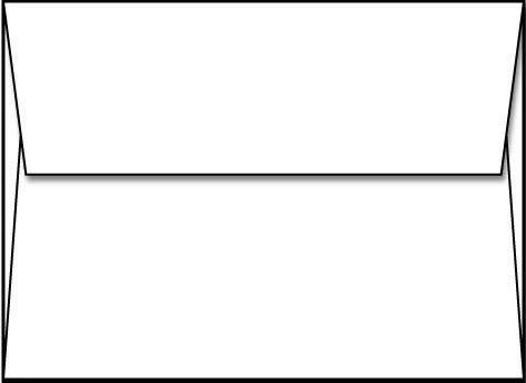 White A1 Envelopes 3 58 x 5 18 - 250 Envelopes - Limited Papers™ Brand Envelopes