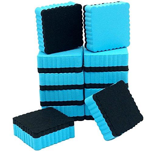 ItemMax Whiteboard Eraser with Ez-Erase Felt Set of 12 Dry Erase Erasers for Home Office and School Classroom Teacher