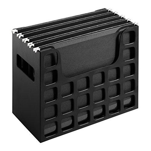 Pendaflex 23013 Desktop File wHanging Folders Letter Plastic 12 14 x 6 x 9 12 Black