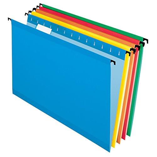 Pendaflex SureHook Reinforced Hanging File Folders Legal Size Assorted Colors 15 Cut 20BX 6153 15 Asst