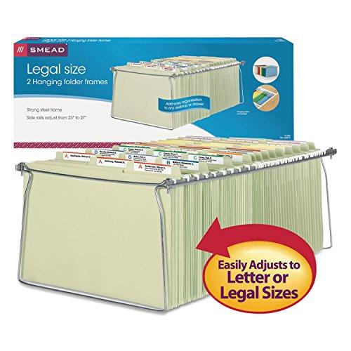 Smead Hanging File Folder Frame Legal Size 2 Pack 64873