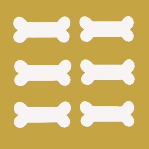 Dog Bone Labels Peel and Stick Dry Erase Set of 6
