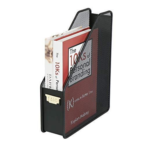 DESIGNA Metal Wire Mesh Desktop Magazine Holder Office Desk File Organizer Black