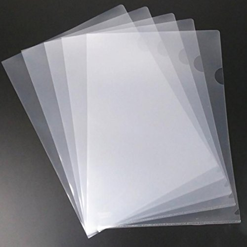 20 Pack Clear Document Folder Copy Safe Project Pocket US letter A4 Size in Transparent Color