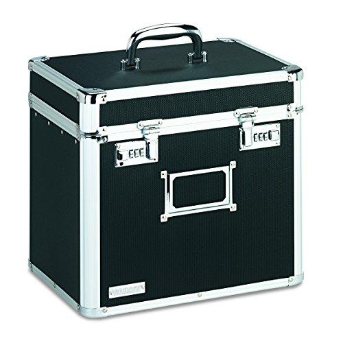 Vaultz Locking File Security Box Letter Size 1325 H x 135 W x 105 D Inches Black VZ01165