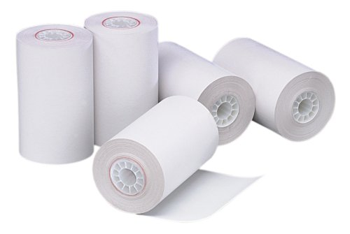 PM Company Perfection POSBlack Image Thermal Rolls 312 Inches x 90 Feet White 72Carton 05209