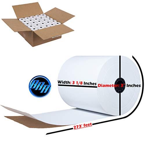 BuyRegisterRolls- 3 18 x 273 thermal paper roll  Brand New BPA Free pos paper rolls 3 18 x 273 3 18 X 273 THERMAL 50 ROLLS