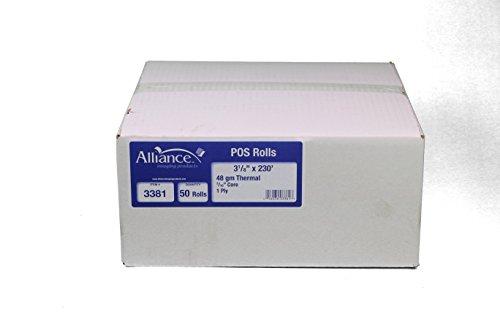 Alliance Thermal Paper Receipt Rolls 3-18 x 230 x 716core Thermal POS Rolls 50 Rolls per Carton