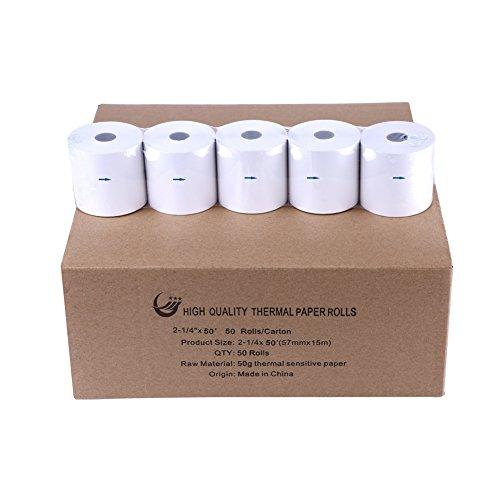 Thermal Paper Cash Registers Rolls 2 14 x 50 W57mm x L15m BPA Free POS Receipt Paper Roll 50Rolls