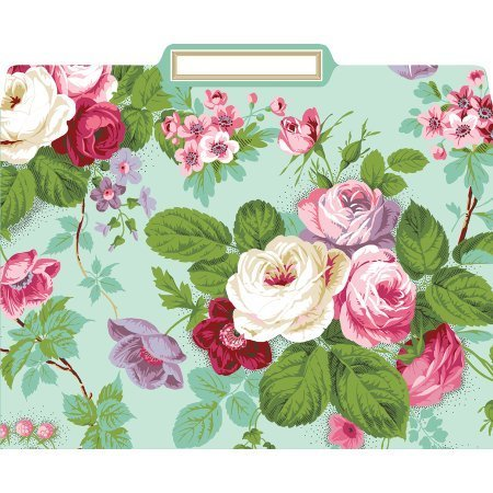 Anna Griffin Amelie Floral File Folders Box of 12