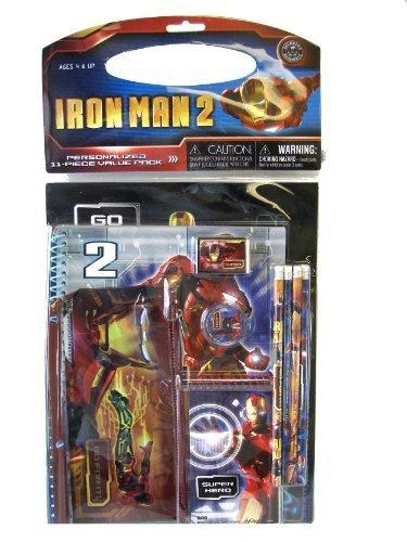 Iron Man 2 Stationery Set - Marvel Iron Man 2 Stationery Kit 11 Pieces