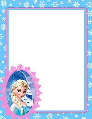 NEW Frozen Elsa Letterhead Stationery Paper 26 Sheets