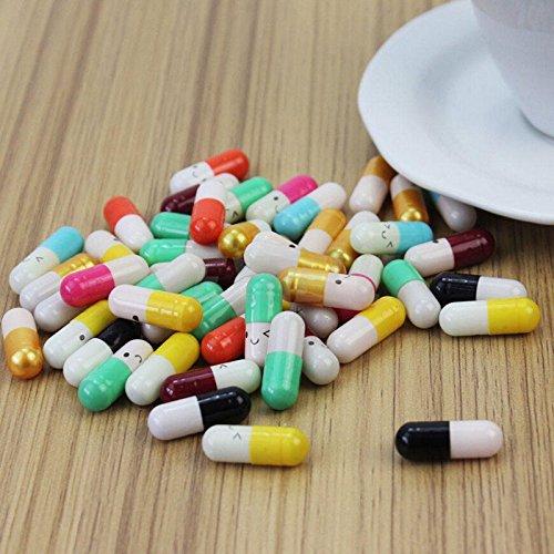 Random Color Creative Gift Rolls Pills Love Pills Lucky Wishing Bottle Capsule Love Letterhead Stationery Paper Envelopes 50Pcs