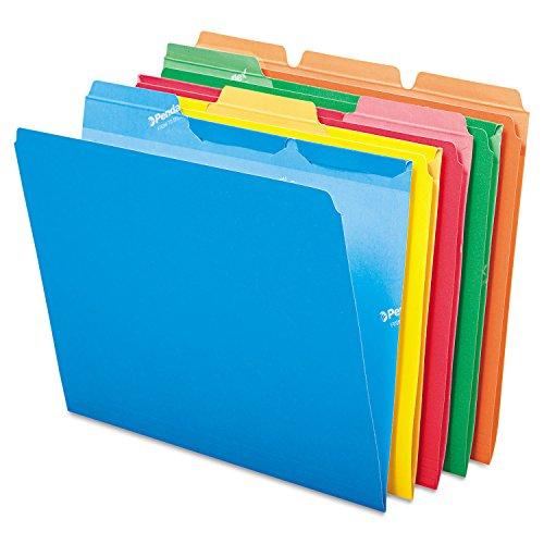 Letter File Folders Assorted PK 50