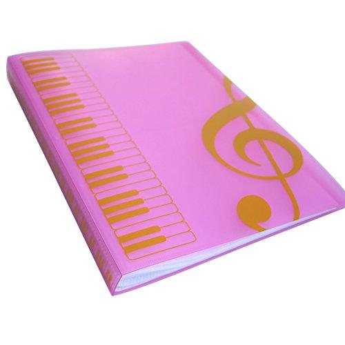 MAXCURY Paper Documents Folder Holder US LETTER  A4 Size 40 PocketsBlank Sheet-Music-Files-Folder-Holder Pink