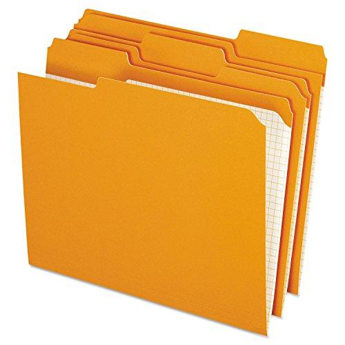 Pendaflex R15213ORA - Two-Ply Reinforced File Folders 13 Cut Top Tab Letter Orange 100Box