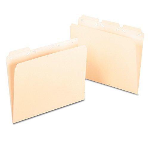 Pendaflex Ready-Tab Reinforced File Folders Letter Size Manila 13 Cut 50BX 42336