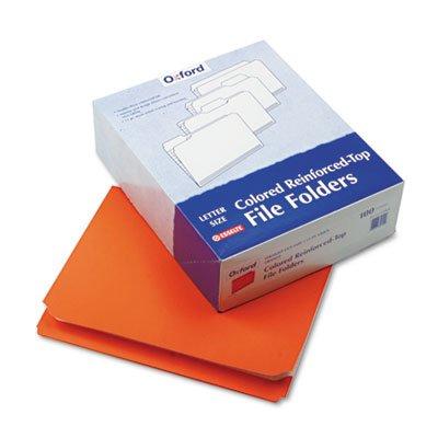 Pendaflex  Two-Ply Reinforced File Folders Straight Cut Top Tab Letter Orange 100Bx -- Sold as 1 BX