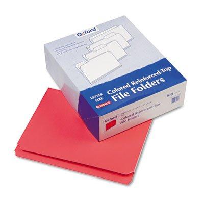 Pendaflexampreg Two-Ply Reinforced File Folders Straight Cut Top Tab Letter Red 100Box