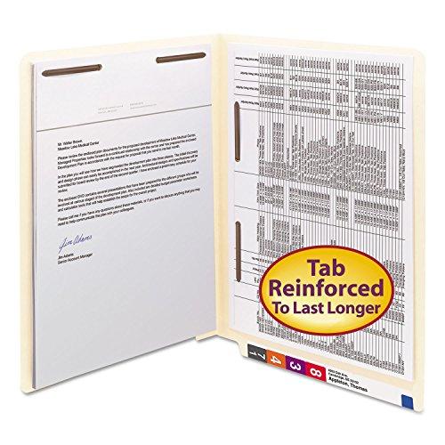 SMD34120 - Smead 34120 Manila End Tab Fastener File Folders with Reinforced Tab