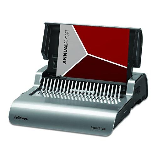 Fellowes 5216901 Quasar 500 Electric Comb Binding System 16 78 x 15 38 x 5 18 Metallic Gray