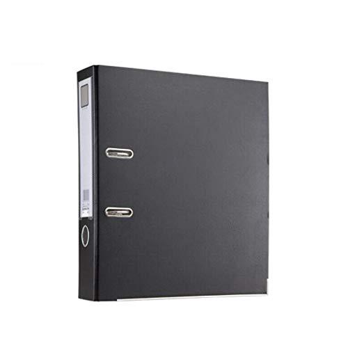 ACHDJwjj Office File Racks Thickened Folder Polypropylene Rod Arch File Large Office Paper Storage Folder Desk Storage File Racks Organisers Holders Color  Black