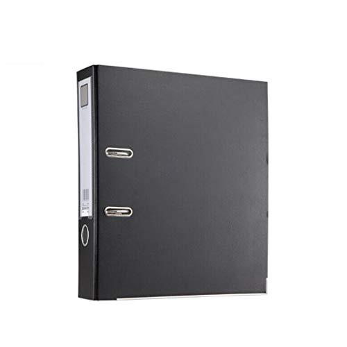 Clipboard Folder Thickened Folder Polypropylene Rod Arch File Large Office Paper Storage Folder Document Finishing Color  Black