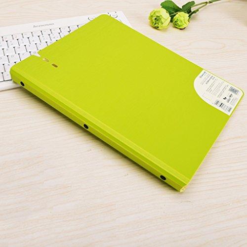 Information Book 40 Pages Thick Bag Spectrum Folder A4 Test Paper Clip Multi-Layer Storage Bag -L308H235mmPCS1 Color  Green