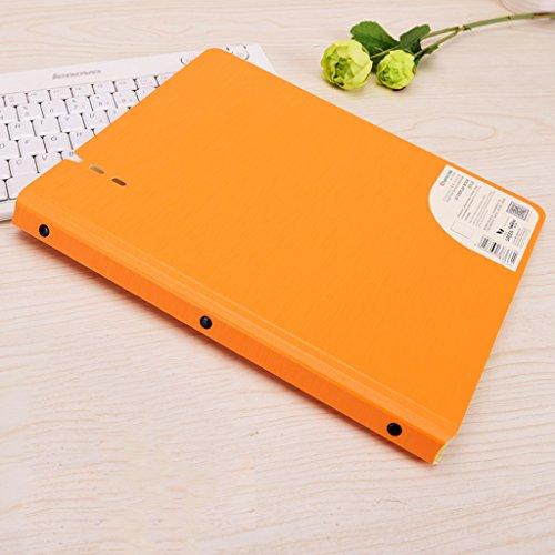 Information Book 40 Pages Thick Bag Spectrum Folder A4 Test Paper Clip Multi-Layer Storage Bag -L308H235mmPCS1 Color  Orange