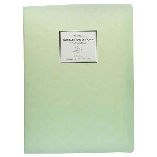 KBWL A4 Display Book FolderPaper Storage Folder Plastic 20 Pockets Green