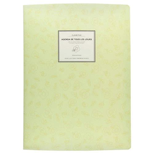 KBWL A4 Display Book FolderPaper Storage Folder Plastic 20 Pockets Yellow
