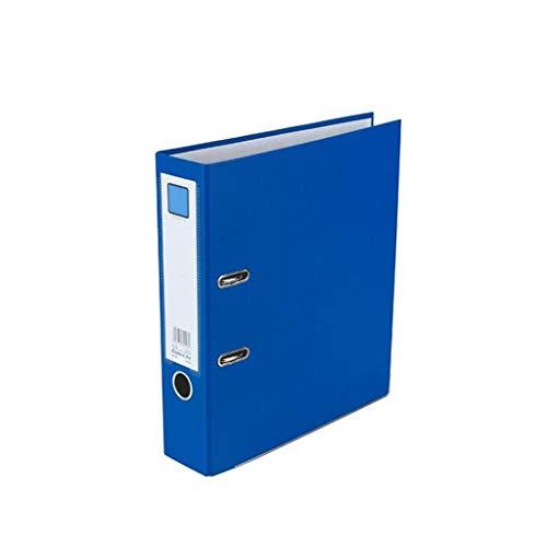 Love lamp Portable Folder Thickened Folder Polypropylene Rod Arch File Large Office Paper Storage Folder Office Supplies Color  Blue