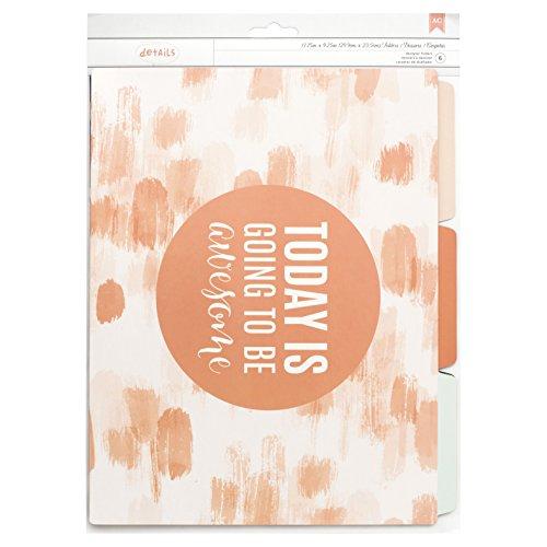 American Crafts Designer Desktop File Folders Good Day 6 Piece