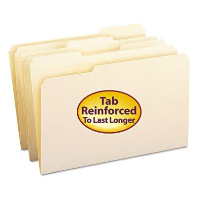 File Folders 13 Cut Assorted Reinforced Top Tab Legal Manila 100Box Sold as 100 Each